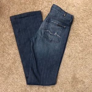 Bedazzled 7 For All Mankind Bootcut Jeans